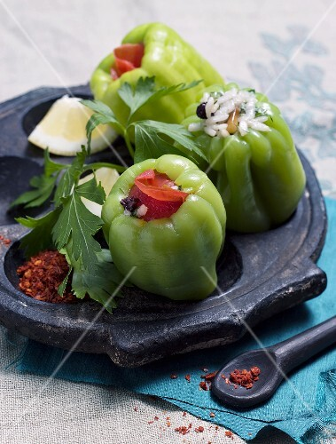 Peppers stuffed with rice and pine nuts (Turkey)