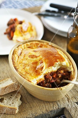 Beef and Guinness pie (Ireland)