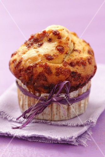 An apple and cinnamon muffin