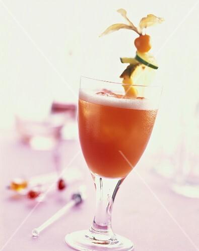Sportsman: non-alcoholic cocktail with orange & pineapple juice