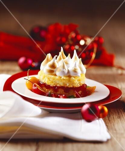 Radetzky rice (Rice dessert with meringue, Austria)