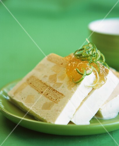 Pineapple and lime parfait