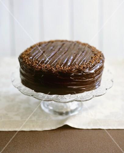 Chocolate fudge cake (UK)