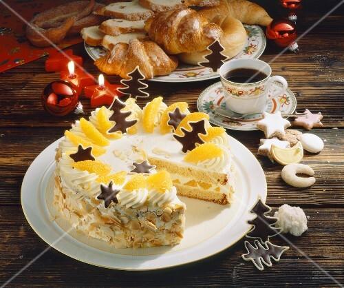 Orange buttercream tart