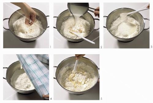 Making gugelhupf: making yeast dough