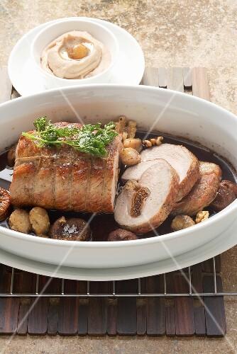 Corsican-style stuffed roast veal