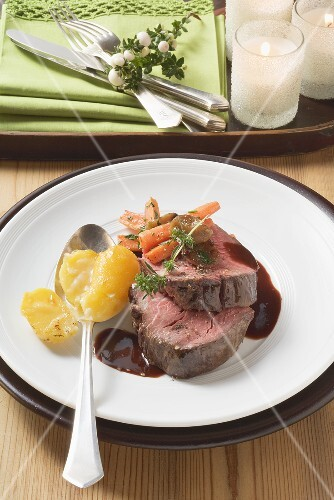 Beef fillet with balsamic sauce