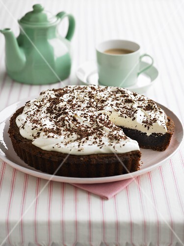 Mississippi mud pie with coffee (USA)