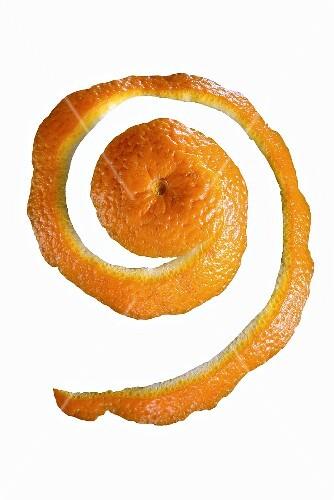 Spiral of orange peel