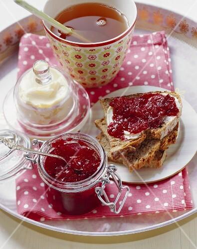 Home-made plum jam
