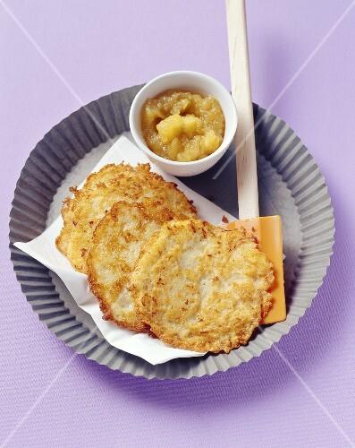Potato pancakes with apple puree