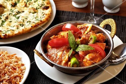 Chicken Karahi (Chicken breast in chilli tomato sauce)