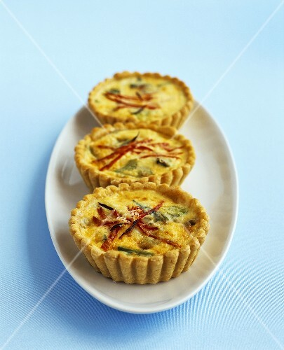 Cheese and spring onion tartlets