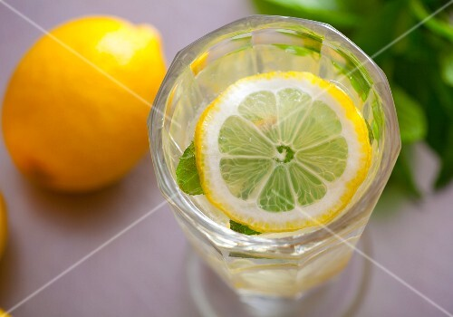 A glass of lemonade