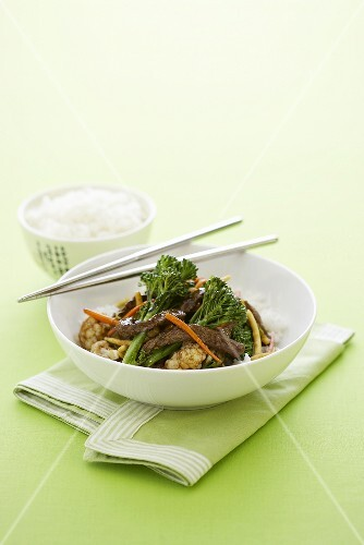 Asian beef with vegetables