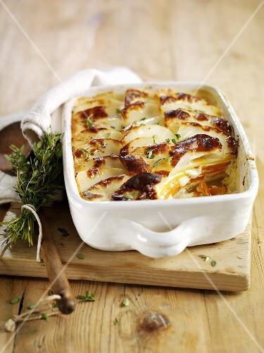 Potato and vegetable gratin