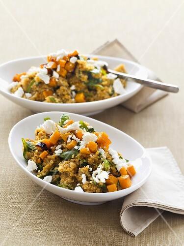 Quinoa with pumpkin and feta