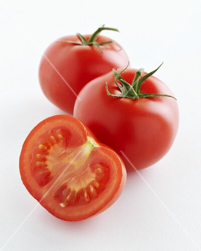Tomatoes, two whole and one half