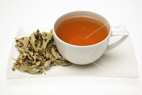 Vervain tea with dried leaves – License Images – StockFood – 392654