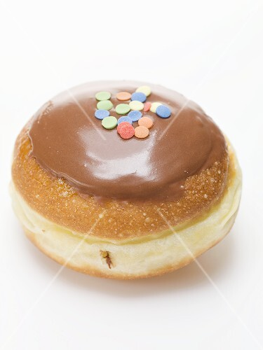 Carnival doughnut with chocolate icing