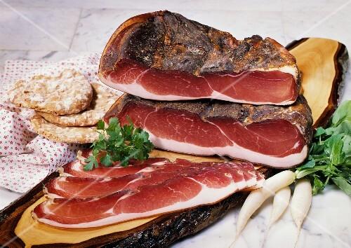 Farmer's Style Bacon; Sliced and Whole