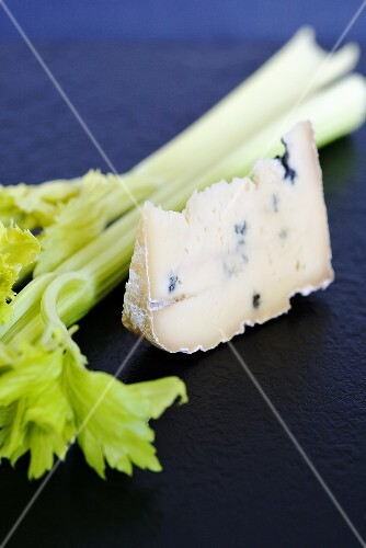 Blue cheese (type: Mrs Temple's Binham Blue, Norfolk, UK) and celery