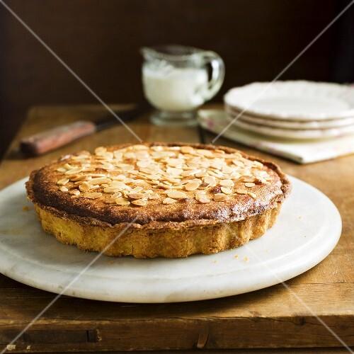 Bakewell tart (Almond tart with jam, England)