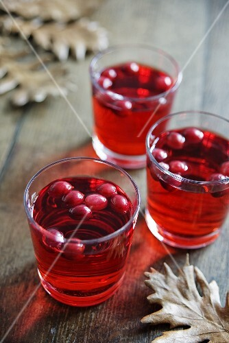Three jars of cranberry apple punch