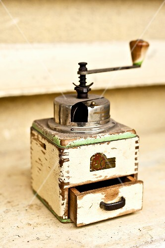An old coffee mill