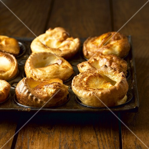 Yorkshire puddings in the baking tin (UK)