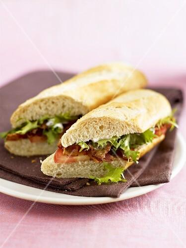 Two BLT sandwiches