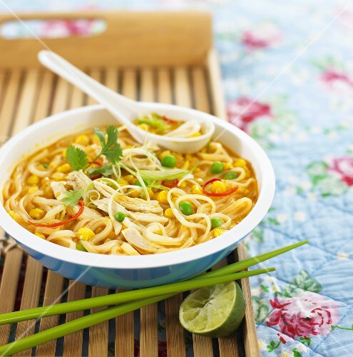 Sweetcorn and chicken laksa (Asia)