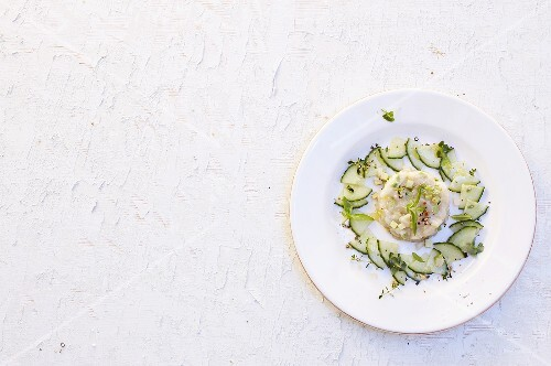 Scallop tatar with cucumber