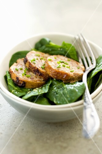 Duck pate with spinach