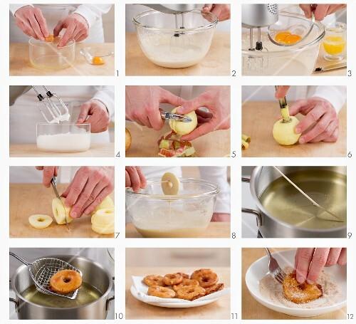 Apfelküchle zubereiten