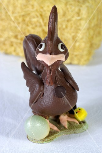 A chocolate chicken