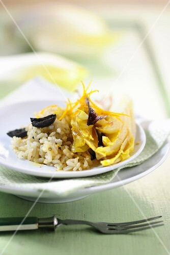 Olive rice with chicory