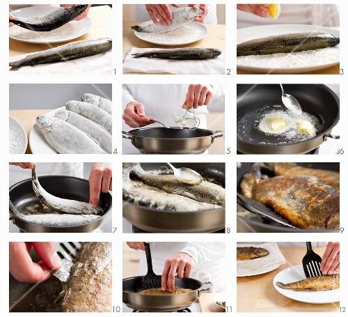 Gebratene Forelle zubereiten