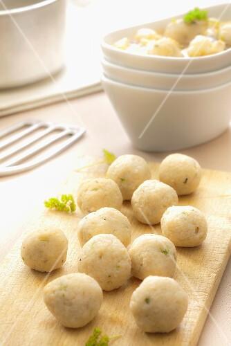 Bone marrow dumplings (for putting into soup)