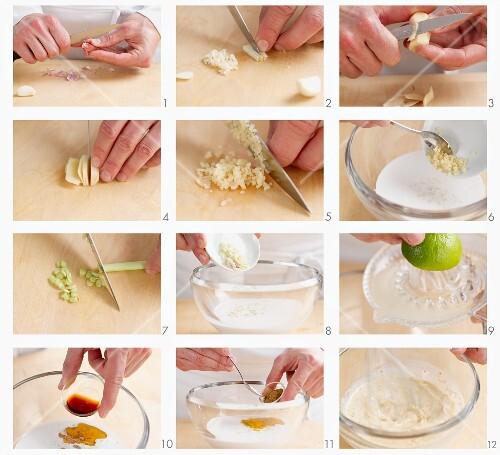Marinade für Hähnchen-Sate zubereiten
