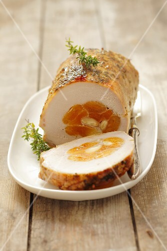 Pork roulade with an apricot filling