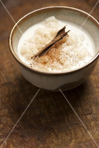 Arroz con leche (rice pudding with cinnamon, Latin America)