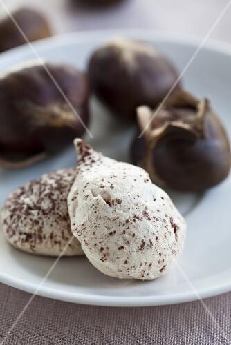 Chestnut meringues