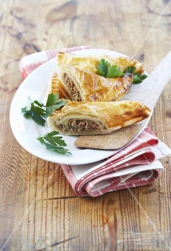 Minced meat-filled pierogi