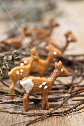 Deer-shaped butter biscuits