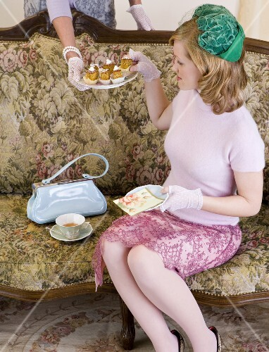 Ladies at an English high tea