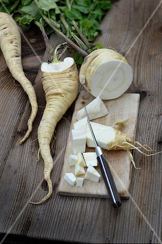 Preparing parsnips