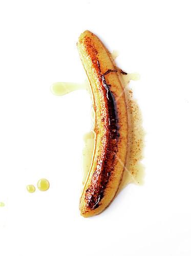 Roasted banana with honey