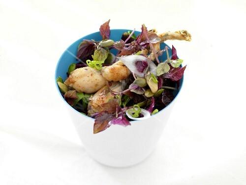 Frog's leg salad