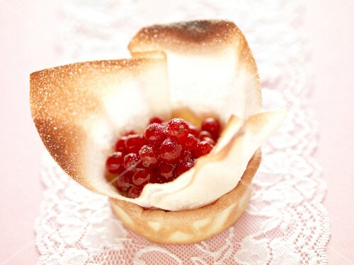 Redcurrants in a filo pastry casing